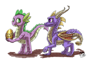 2 little dragons by Xaneas