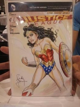 Wonder oman Sketch Cvr by RandyGreen