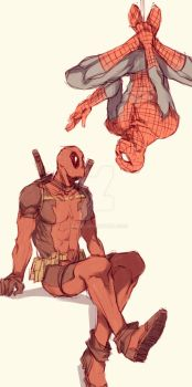 Spideypool53 by LKiKAi