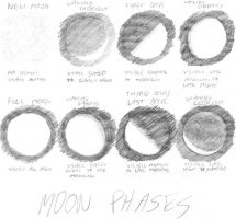 Moon Phases in Pencil by vidthekid