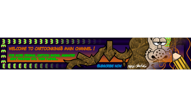 Cartoonking3 Channel Banner 4 by Thegarfieldtouch