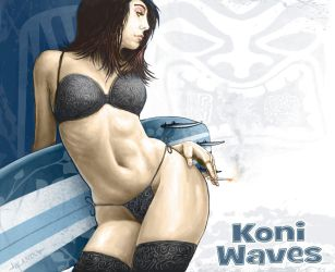 Koni Waves Pinup by Stormcrow135