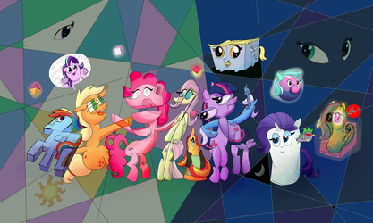 My little Surrealist Ponies - Groupshot by UltraTheHedgetoaster
