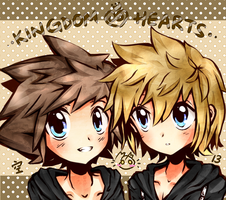KH - Sora and roxas by peachmomo