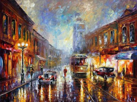 Los Angeles 1920 by Leonid Afremov by Leonidafremov