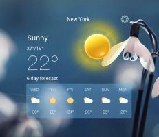 Clear Weather Widget for xwidget by Jimking