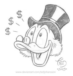Scrooge sees dollar signs by TedJohansson