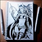Sketchbook - Huntress (NSFW on Patreon) by Candra