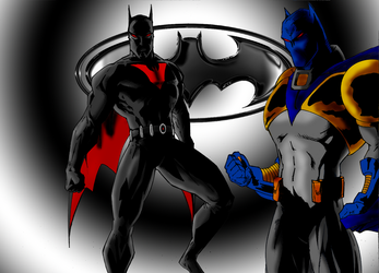 DSC-Azrael and Batman Beyond by vitasimplex