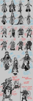 College Work: Alara and Dagny Concepts Pt. 2 by the-Orator