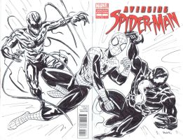 Avenging Spiderman sketch cover by NJValente