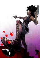 Domino (and Deadpool) by SebasP