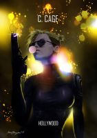 Mortal Kombat X Cassie Cage Hollywood by Grapiqkad