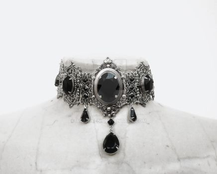Medieval Gothic Choker by Aranwen