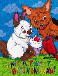 Have a Tweet Birthday by Frodo-Lion