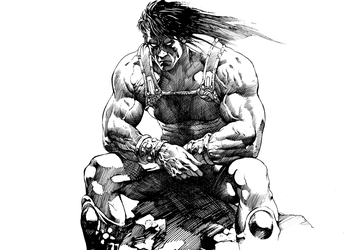 Brooding Barbarian by anghorkheng