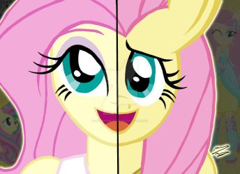My Little Pony FIM Duality - Fluttershy by OptimumBuster