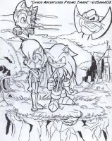 Chaos Adventures Comic Cover by SkyPirateDash
