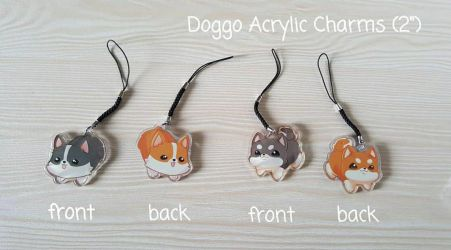 Shoobs and Corgo acrylic charms by Hikazume808