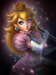 Princess Peach - Super Smash Bros 4 by lucasblahblah