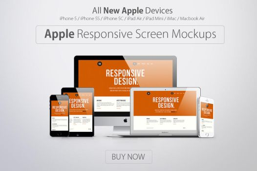 Apple Responsive Screen Mockups by graphiccon