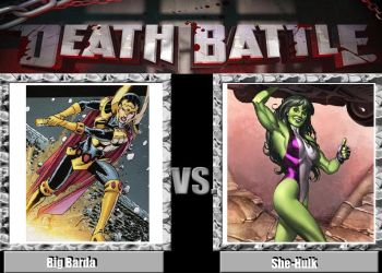 Death Battle: Big Barda vs She-Hulk by Werewolf-Hero