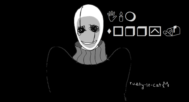 Gaster dude by rusty-le-cat