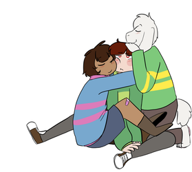 Hugs for Chara by Channydraws