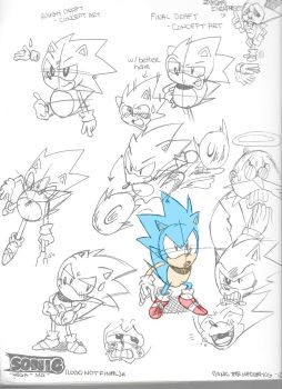 Sonic MD - Concept #1 - SONIC THE HEDGEHOG by Dazzledorp