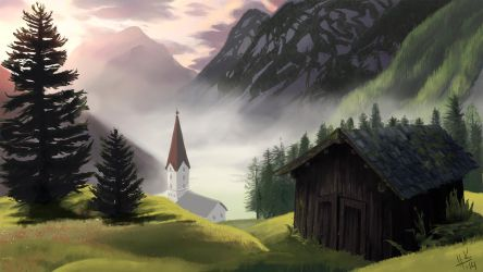 Foggy Valley by Tanize