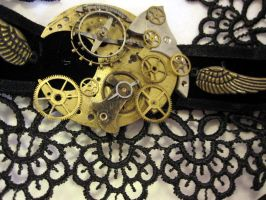 Steampunk basics choker by Gothic-Enchantress