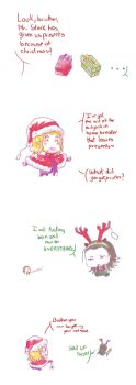 Happy xmas to you! To Loki and Thor too! by MicoSol