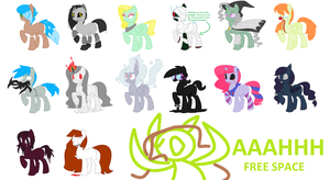 Super Spooky 5 point Adoptables [CLOSED] by inkaXkirby