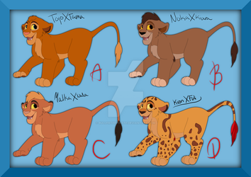 Adoptables breeded on TLK characters #2 OPEN by BullerThePirate