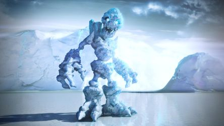 Ice Golem by JAW1002