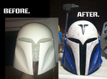 Bo Katan. Before and After by JediAnakinSkyguy