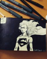 ink november 17 - supergirl by CrystalC33