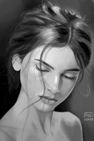 Value portrait study #1 by DDaNBaZZ