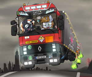 Littlepip 's Balefire bombs delivery. by orang111