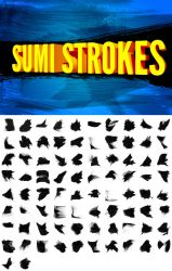 82 Sumi Strokes by pstutorialsws