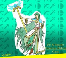 FE X Smash: Palutena-Bishop Class (colored) by AydanADub1863