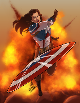 Peggy Carter The First Avenger by ConstantScribbles