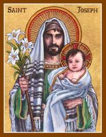 St. Joseph icon by Theophilia