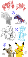 Pokemon Dump of Sketches by AbnormallyNice