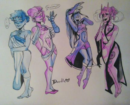 Also- My characters ARE SPICY NOW  by DoodleFaceArtist
