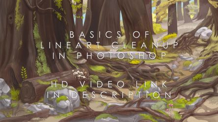 Basics of lineart cleanup in Photoshop by Sheharzad-Arshad