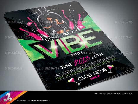 Vibe Party Flyer Template by AnotherBcreation