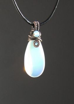 Opalite copper necklace by VeraNasfa