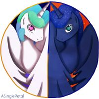 .: Redraw: Sun and Moon :. by ASinglePetal