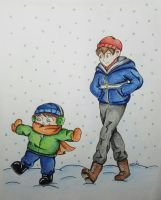 Wirt and Greg in the Snow by K8KAT